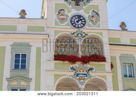 Gmunden City Hall In Austria, Traunsee