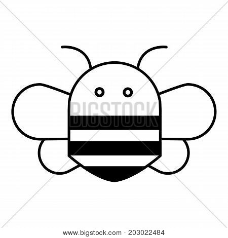 Bee icon. Outline illustration of bee vector icon for web design isolated on white background