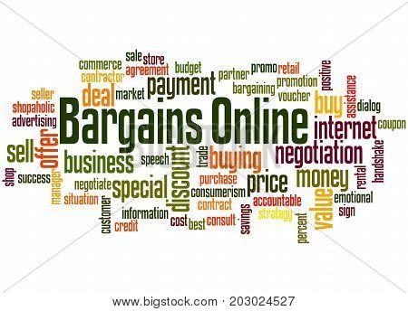 Bargains Online, Word Cloud Concept 4