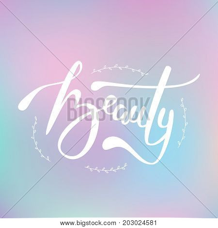 Vector Illustration Of Beauty Text For Shop Logotype.