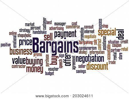 Bargains, Word Cloud Concept 2