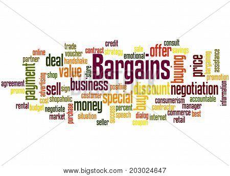Bargains, Word Cloud Concept 4