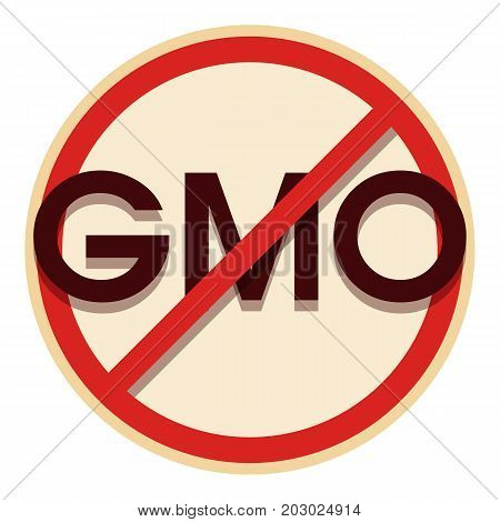 No gmo icon. Cartoon illustration of no gmo vector icon for web