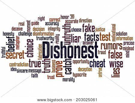 Dishonest, Word Cloud Concept 3