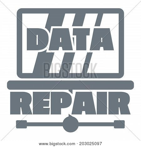Pc data repair logo. Simple illustration of pc data repair vector logo for web design isolated on white background