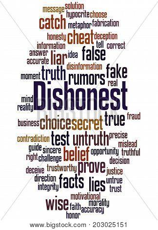 Dishonest, Word Cloud Concept 6