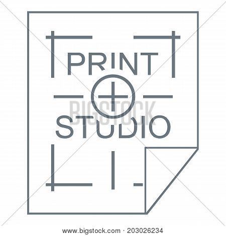 Print studio logo. Simple illustration of print studio vector logo for web design isolated on white background