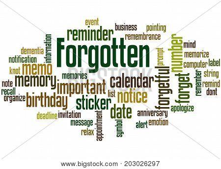 Forgotten, Word Cloud Concept 5