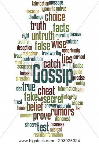 Gossip, Word Cloud Concept
