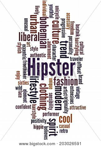 Hipster, Word Cloud Concept 5