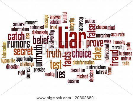Liar, Word Cloud Concept
