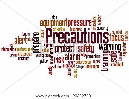 Precautions, Word Cloud Concept