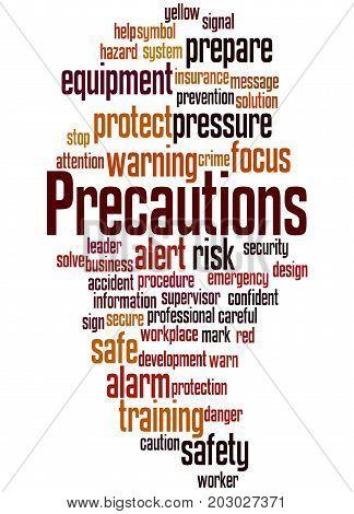 Precautions, Word Cloud Concept 6