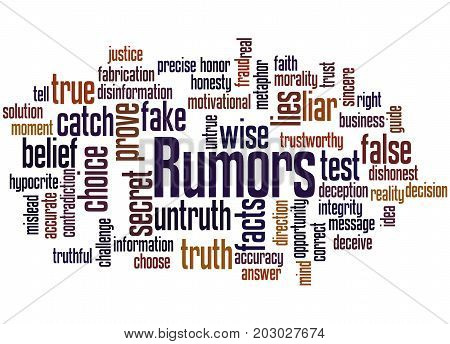 Rumors, Word Cloud Concept 2