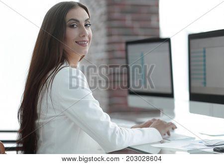 portrait of business woman-economist