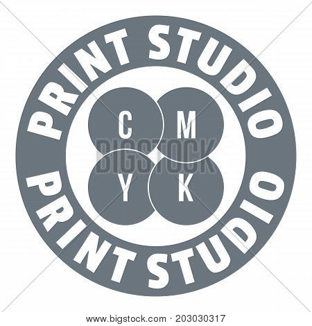 New print studio logo. Simple illustration of new print studio vector logo for web design isolated on white background