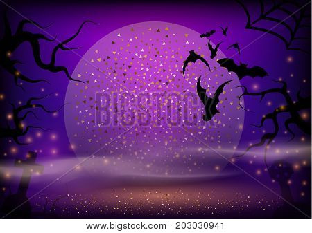 Sunset Onhalloween Background.