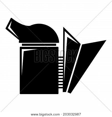 Beehive smoker icon . Simple illustration of beehive smoker vector icon for web design isolated on white background