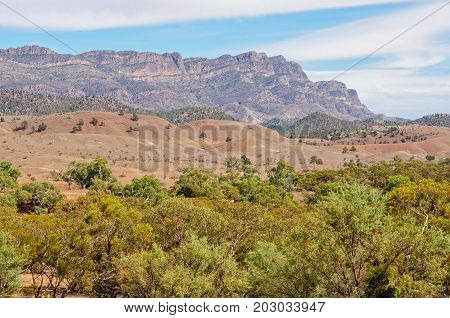Heysen Range photographed from the Hucks Lookout at Wilpena Pound - Flinders Ranges, SA, Australia