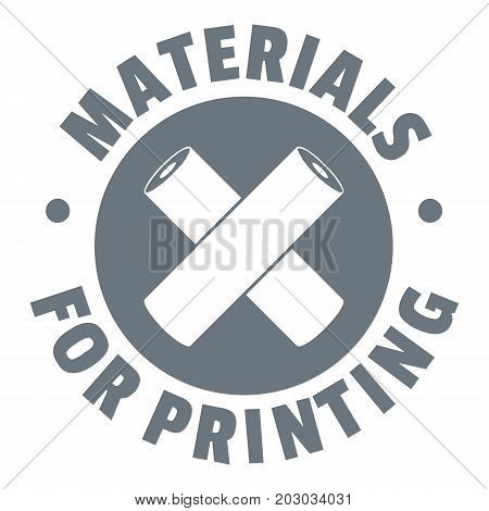 Materials for printing logo. Simple illustration of materials for printing vector logo for web design isolated on white background