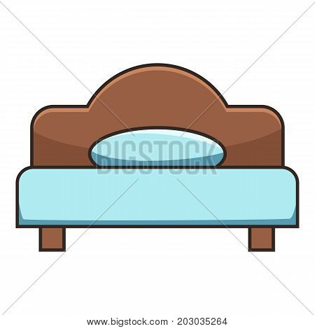 Double bed icon. Cartoon illustration of double bed vector icon for web