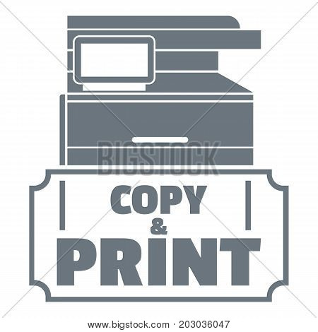 Copy and print logo. Simple illustration of copy and print vector logo for web design isolated on white background