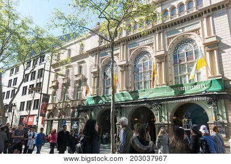 The Gran Teatre Del Liceu, Ramblas, Barcelona, Spain.