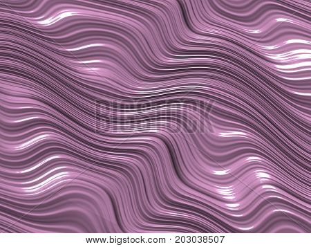 Beautiful pale lilac color of a digitally created fractal image resembling the flow and shapes of melting ice cream