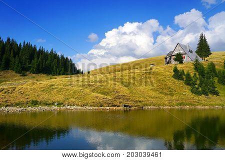 Idylic chalet in the Carpathians, Romania, Europe