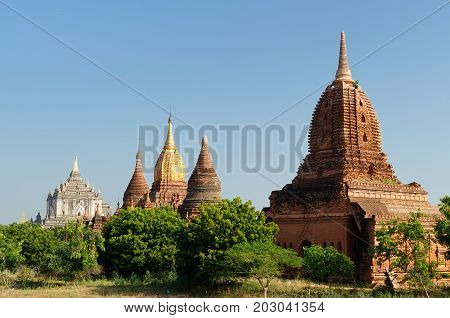 Ancient Temple of the World Heritage site at Bagan Myanmar
