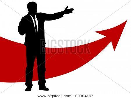 graphic businessmen of concept success