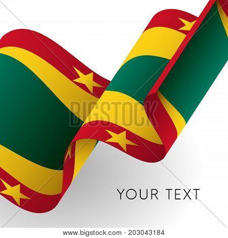 Grenada flag. Patriotic design. Waving flag. Vector illustration.