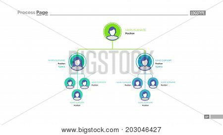 Business hierarchy slide template. Business data. Graph, diagram, design. Creative concept for infographic, project. Can be used for topics like staff, organization, company