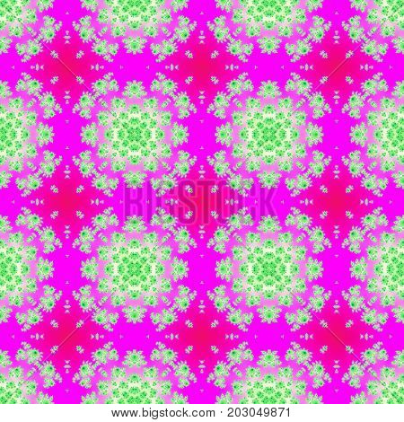 Ornate seamless home textile or paper imprint pink design