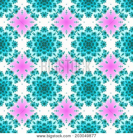 Floral abstract graphic vintage ornate femine seamless pattern