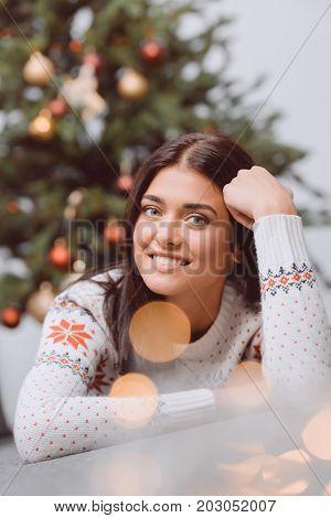 Beautiful Girl At Christmas