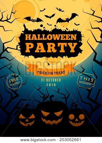 Halloween party background design. Eps 10 vector illustration