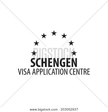 Logo Of Visa Application Centre. Vector Illustration.