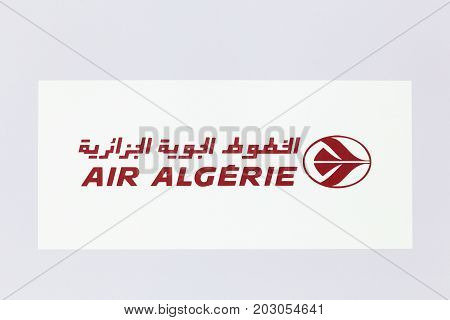 Lyon, France - May 27 2017: Air Algerie logo on a wall. Air Algerie is the national airline of Algeria
