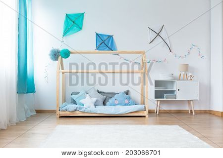 Boys Bedroom With Diy Kites