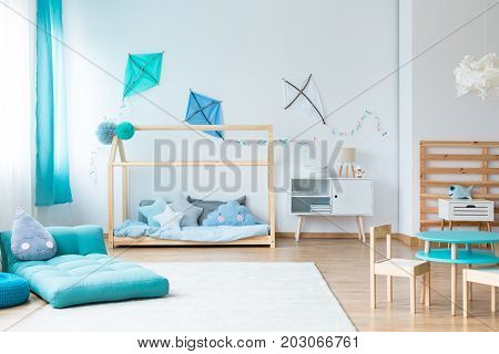 Colorful Kids Bedroom With Kites