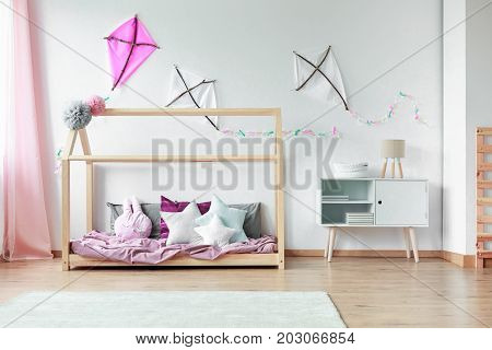 Shaped Pillows On Kids Bed