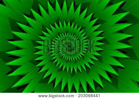Star green abstract vector pattern , Concentric star shapes - green