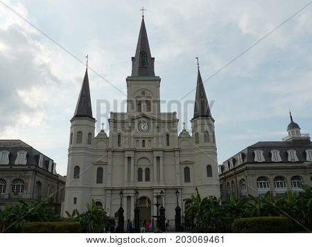 St. Louis Cathedral at the Jackson Square in New Orleans, Louisiana