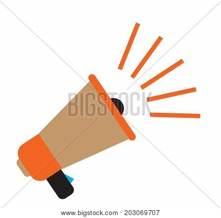 isolated color megaphone. colorful magephone or bullhorn on white background. megaphone sign.
