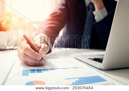 Professional Manager Working With Finance Document