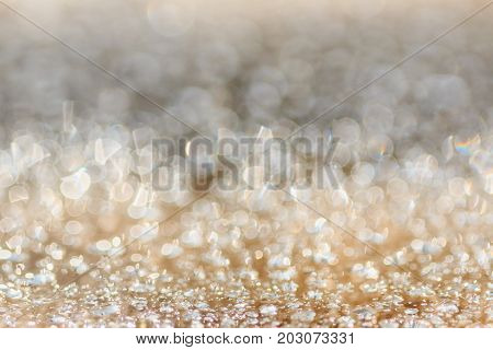 abstract blur light christmas background with spark vintage de-focused