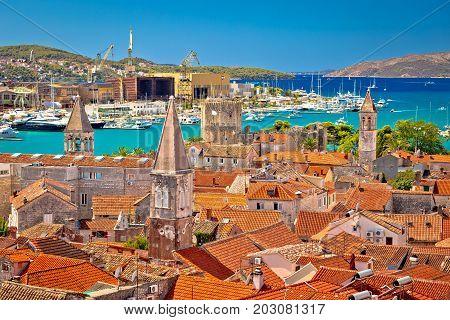 Landmarks Of Trogir Aerial View