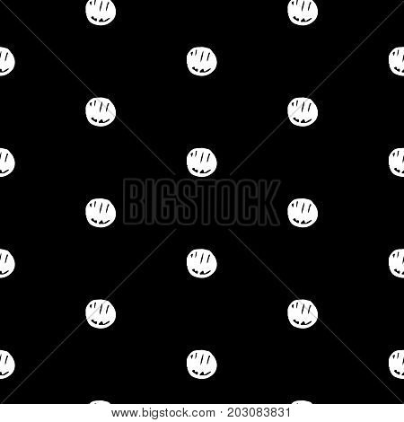 Abstract polka dot pattern with hand drawn polka dots. Cute vector black and white polka dot pattern. Seamless monochrome polka dot pattern for fabric, wallpapers, wrapping paper and web backgrounds.