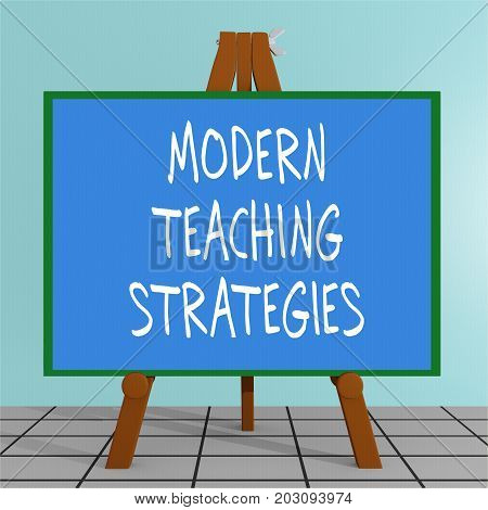Modern Teaching Strategies Concept